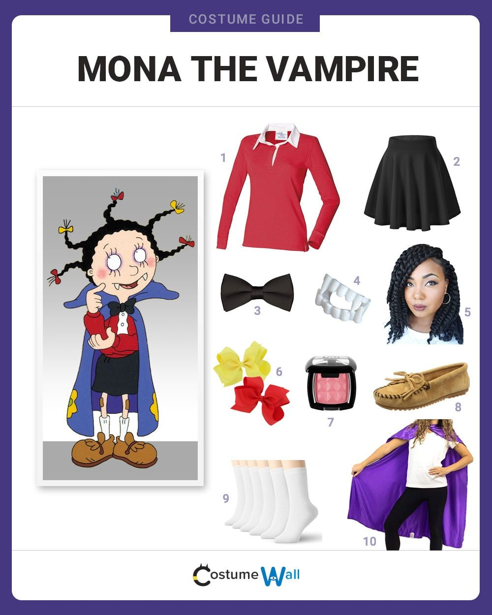 Mona the Vampire Costume Guide