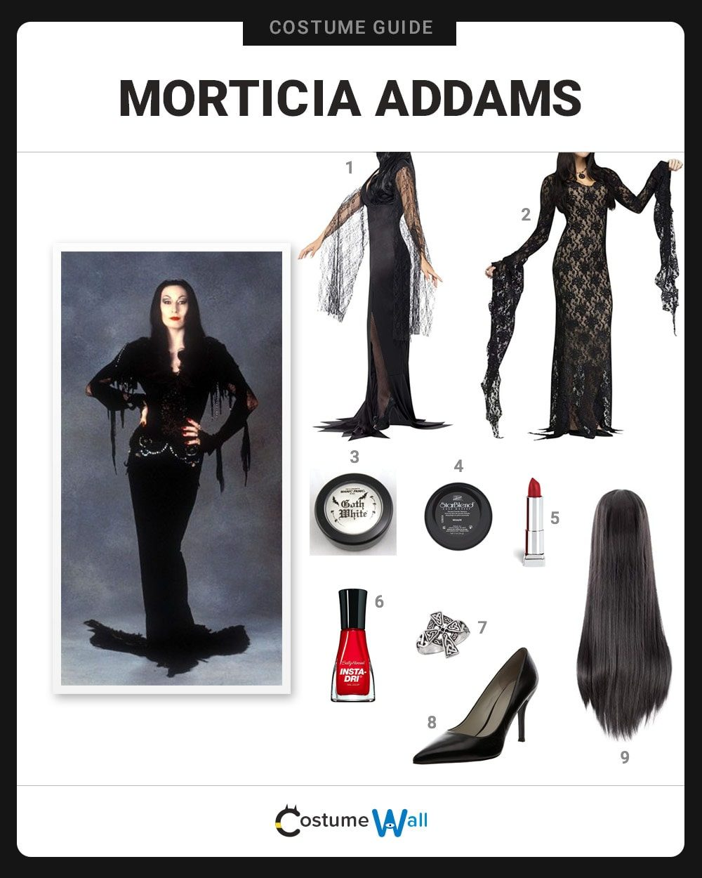 Morticia Addams Costume Guide