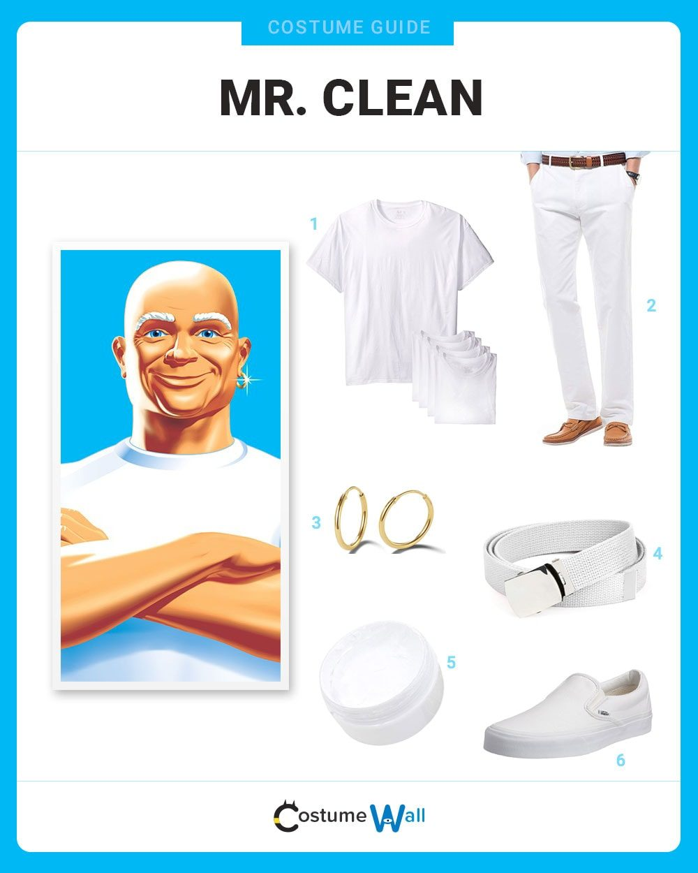 Mr. Clean Costume Guide