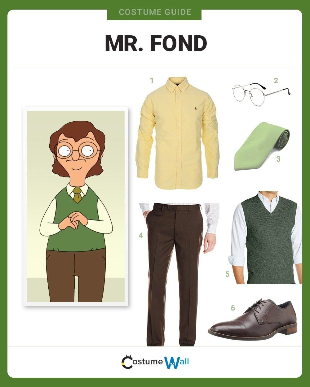 Mr. Fond Costume Guide