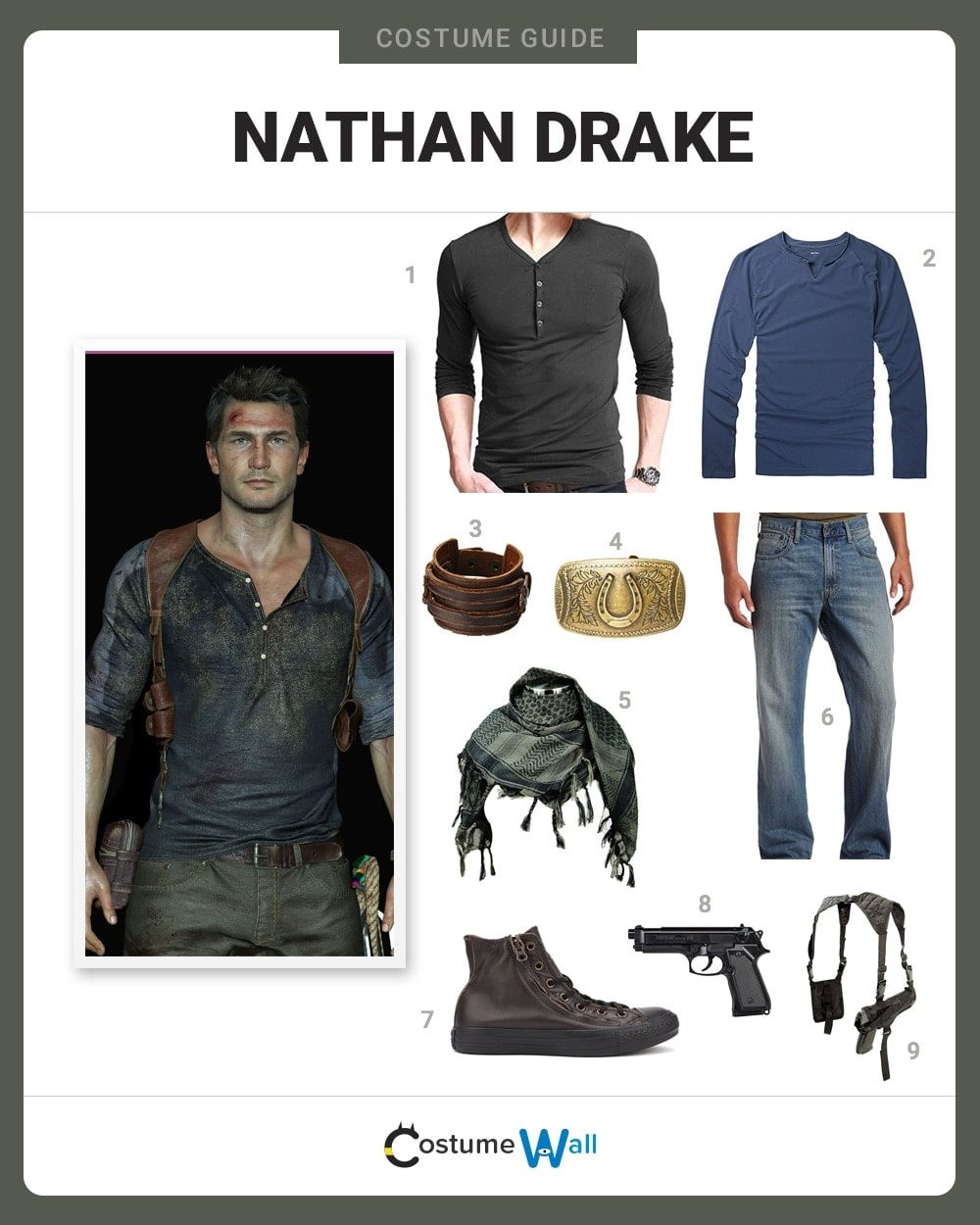 Dress Like Nathan Drake Costume Halloween And Cosplay Guides