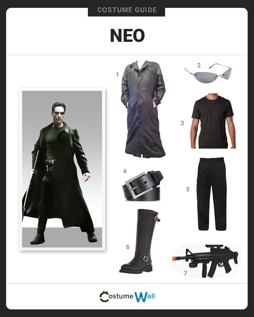 Dress Like Neo Costume Halloween And Cosplay Guides