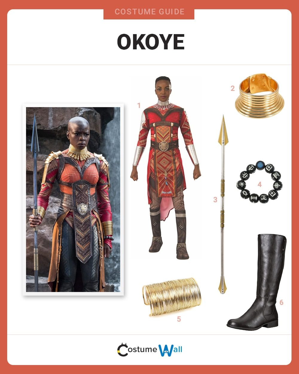 Okoye  Costume Guide
