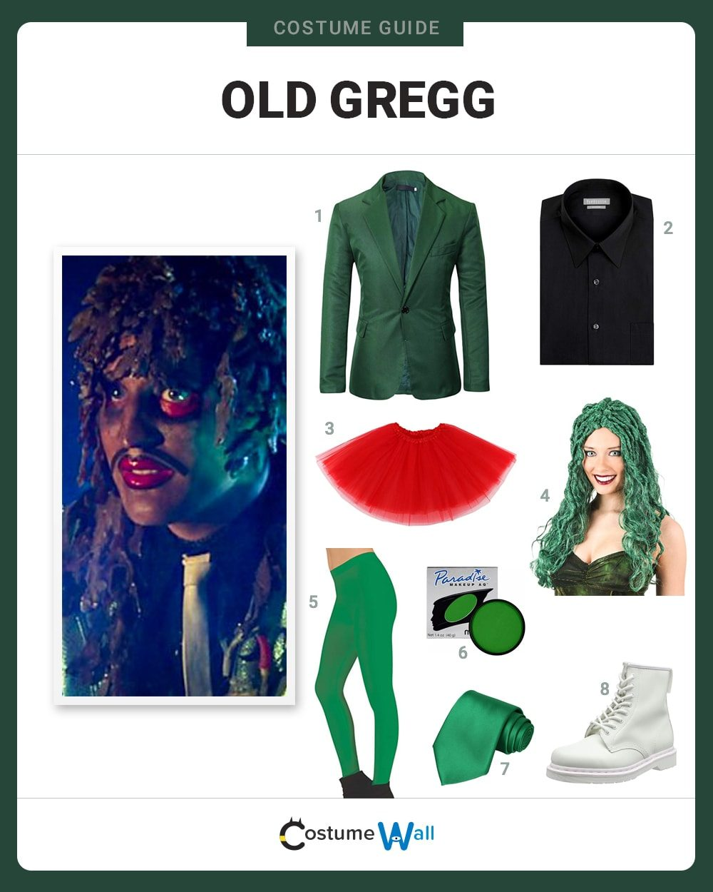 Old Gregg  Costume Guide