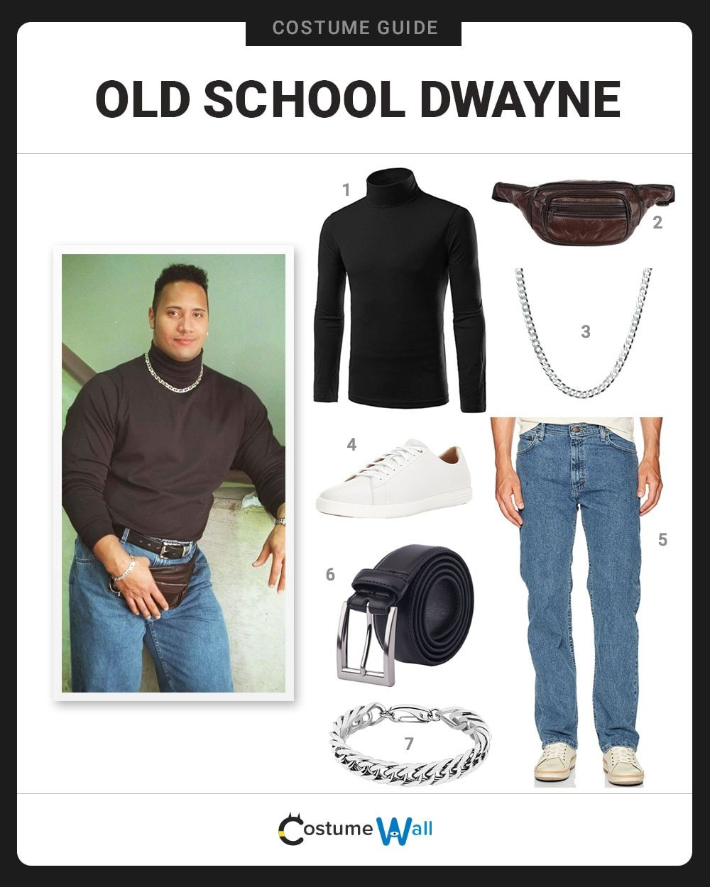 Old School Dwayne  Costume Guide