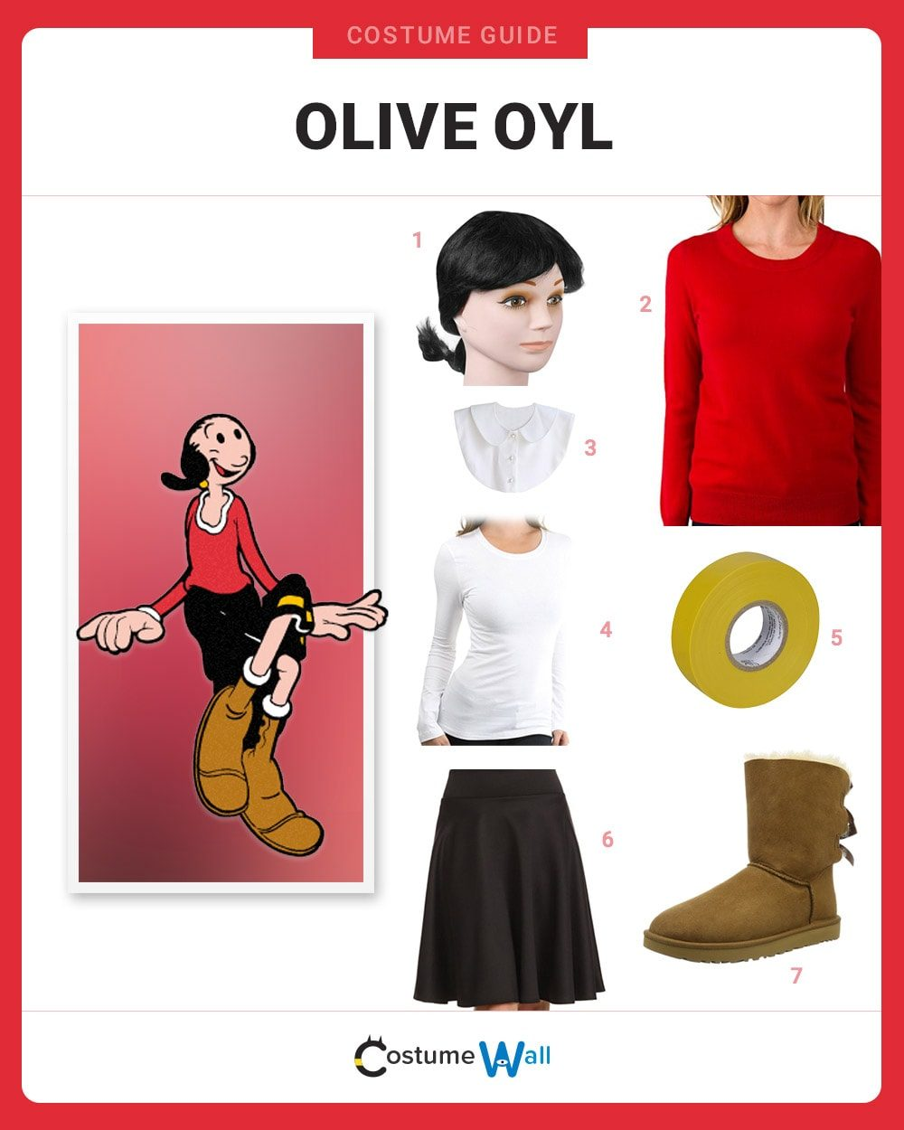Dress Like Olive Oyl Costume Halloween And Cosplay Guides