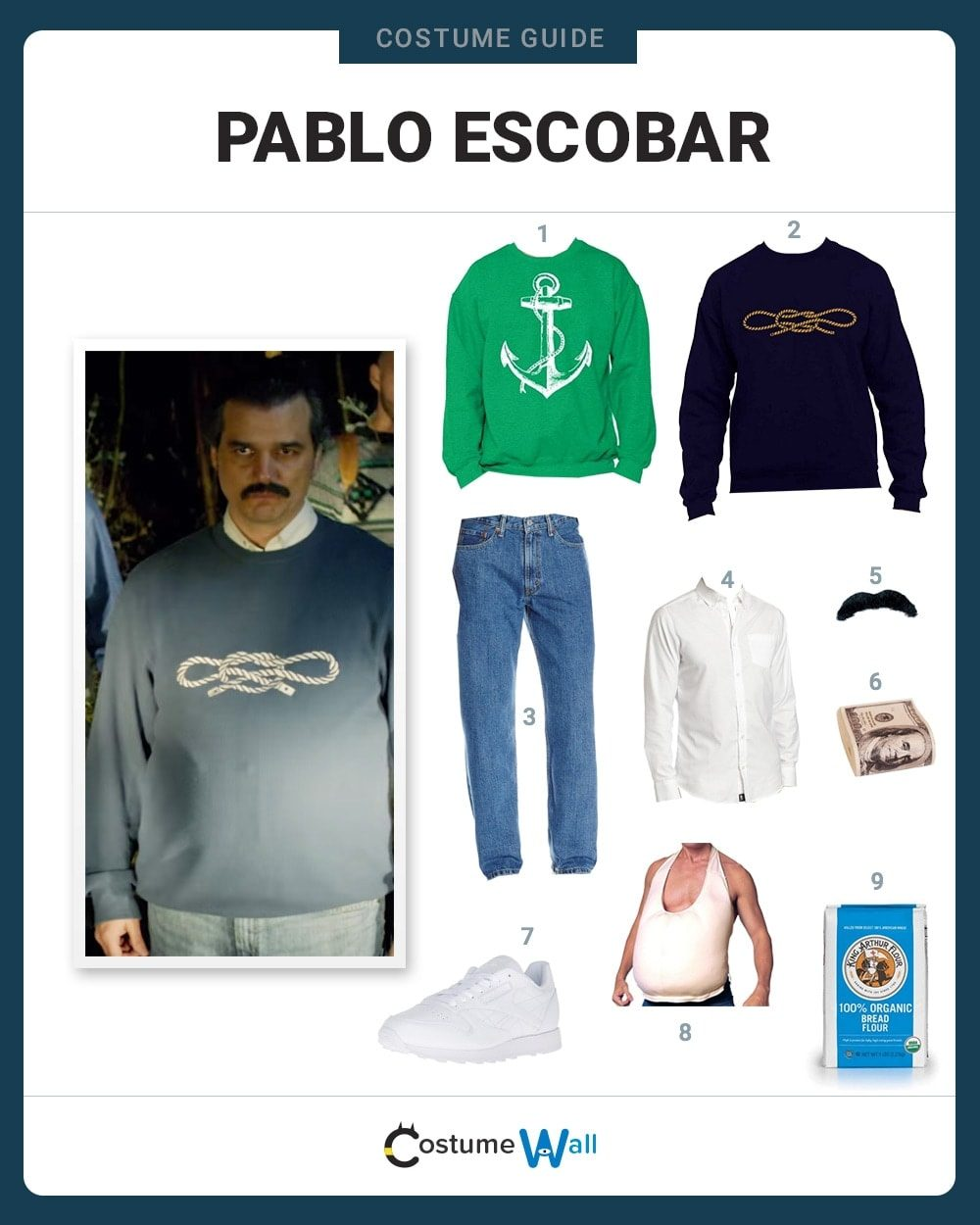 Dress Like Pablo Escobar on halloween bread