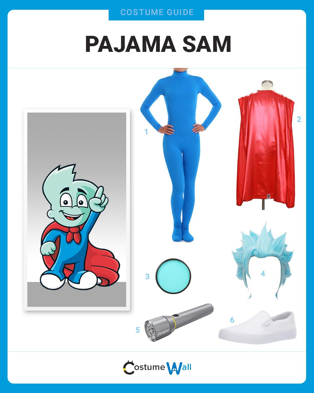 Pajama Sam Costume Guide