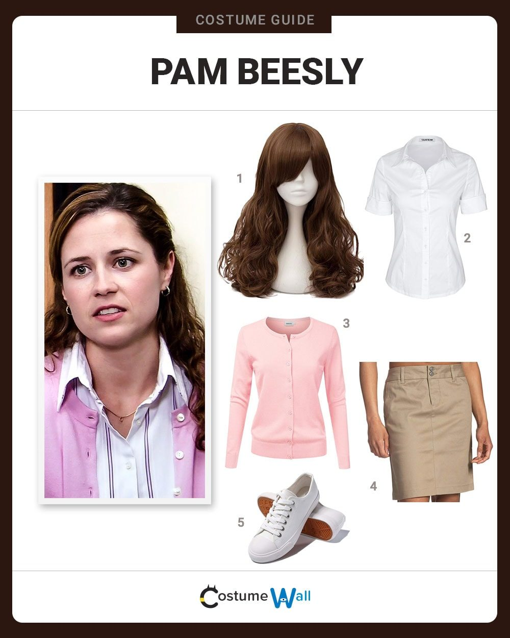 Pam Beesly  Costume Guide