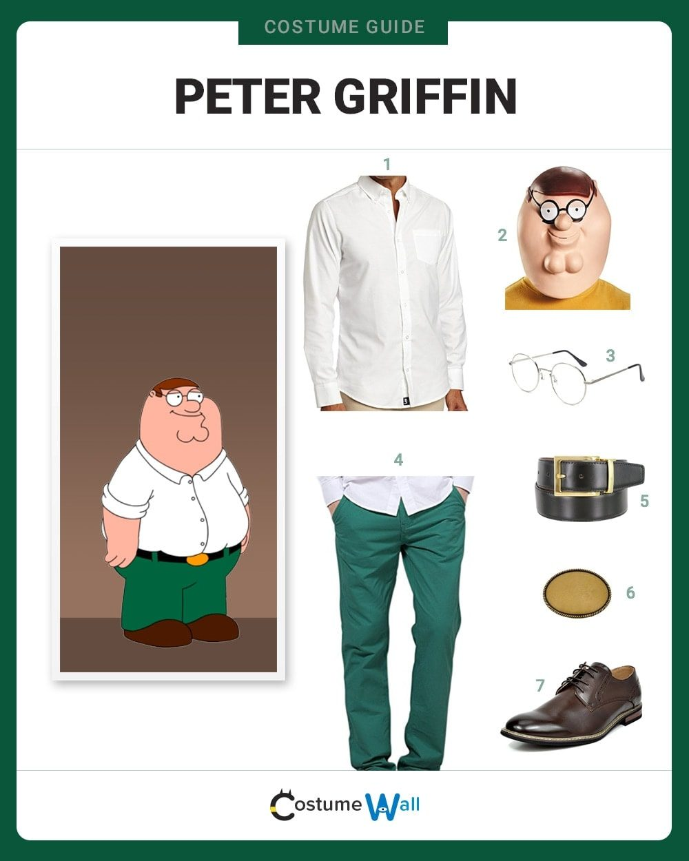 Peter Griffin Costume Guide