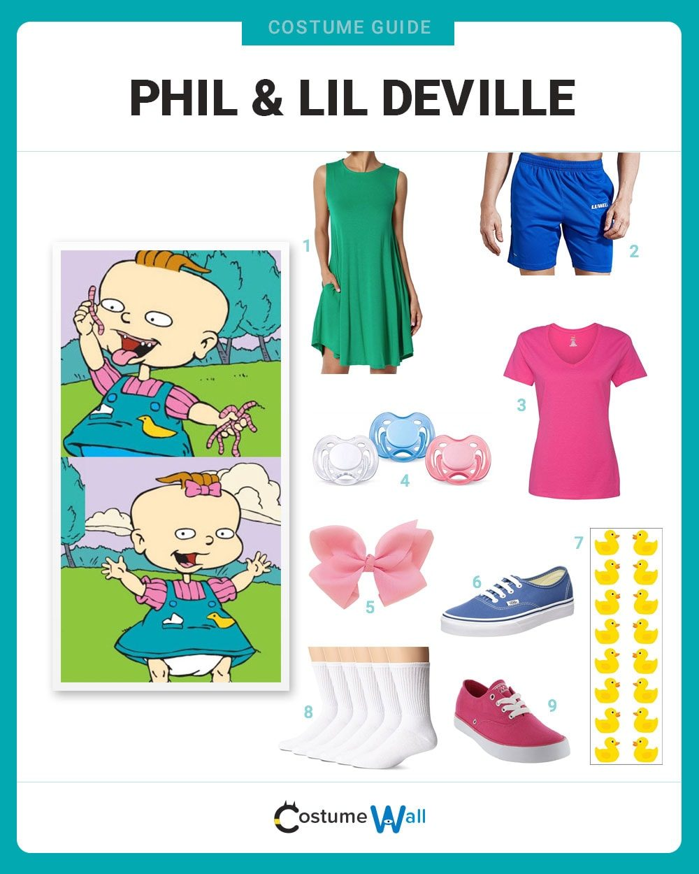 Phil & Lil DeVille Costume Guide