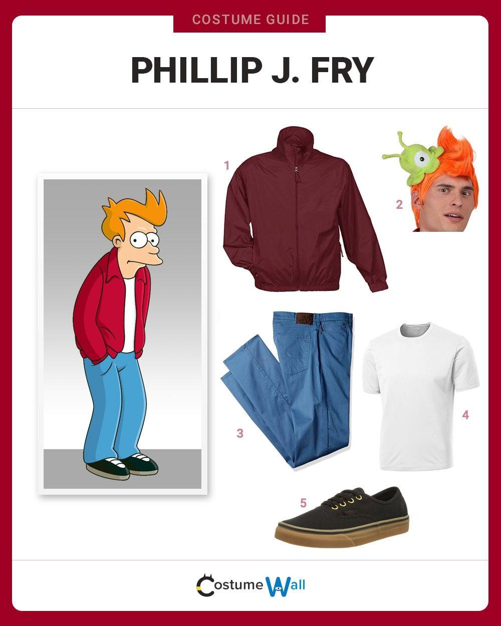 Phillip J. Fry Costume Guide