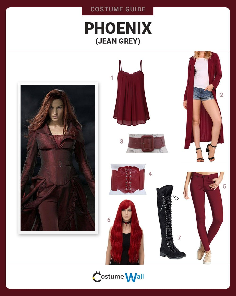 Phoenix (Jean Grey) Costume Guide