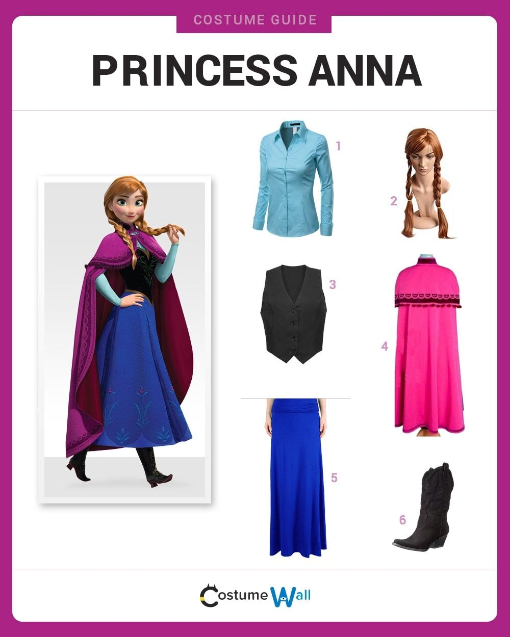 Dress Like Princess Anna Costume | Halloween and Cosplay Guides