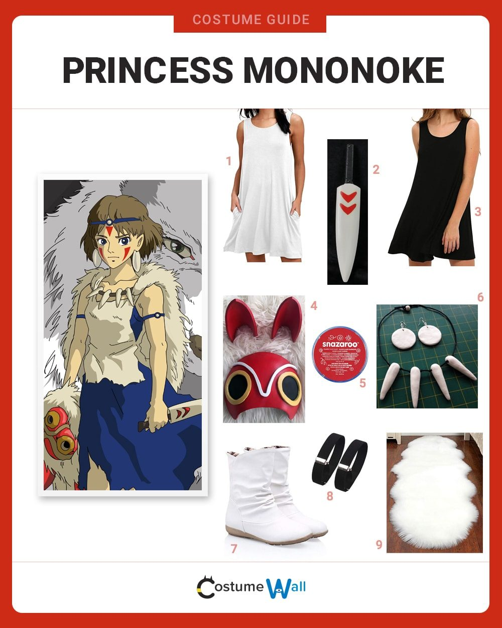 Princess Mononoke Costume Guide