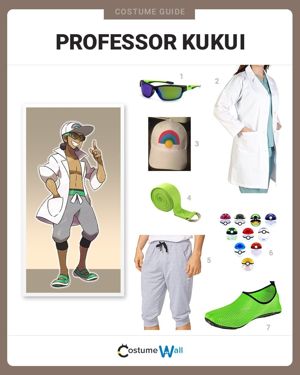 Professor Kukui Costume Guide
