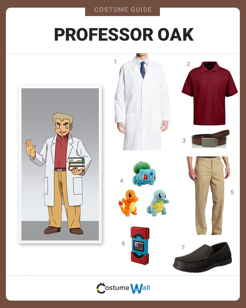 Professor Oak Costume Guide