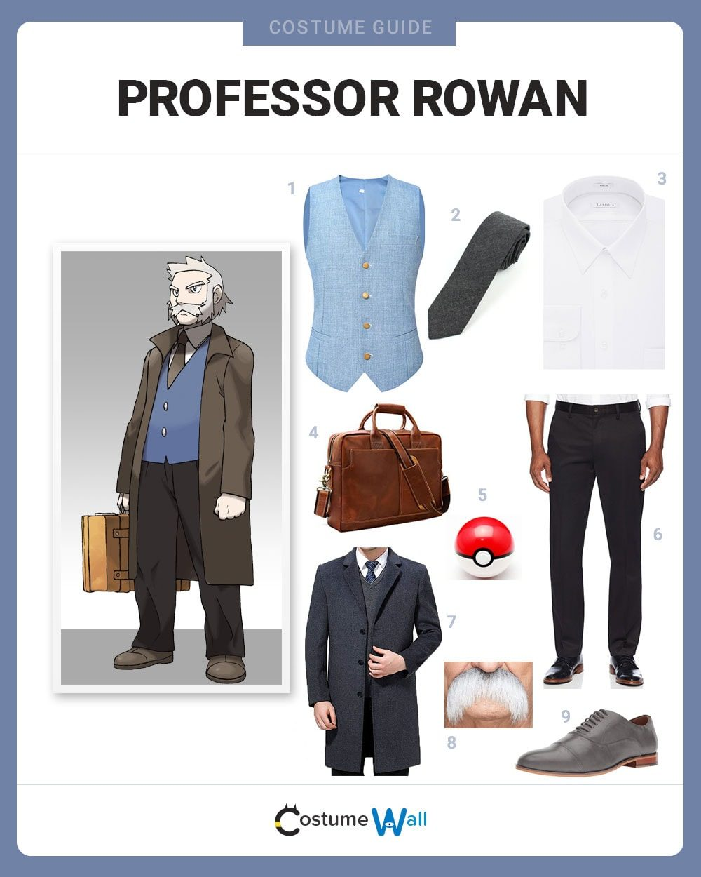 Professor Rowan Costume Guide