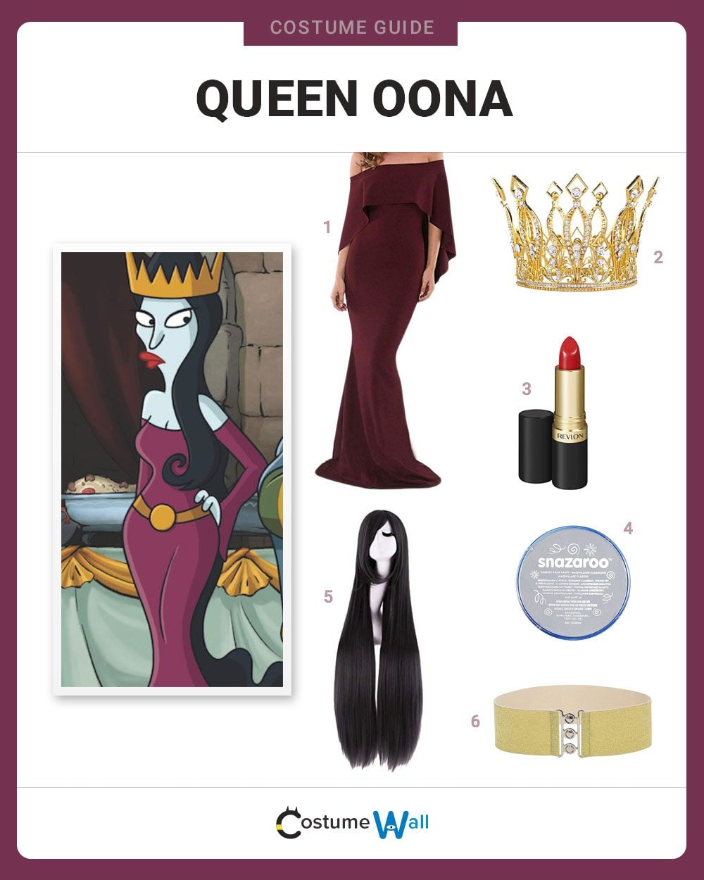Queen Oona Costume Guide