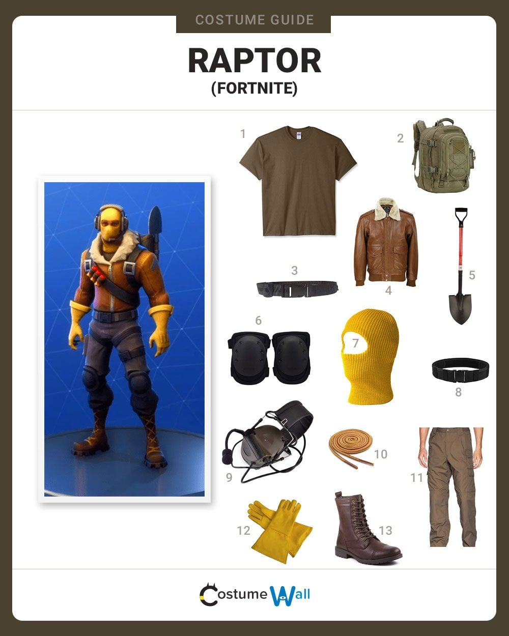 Raptor  Costume Guide