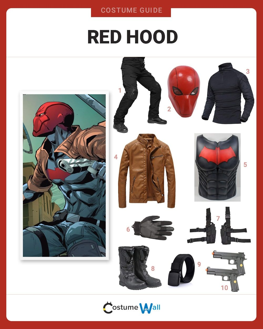 Red Hood (Rebirth) Costume Guide