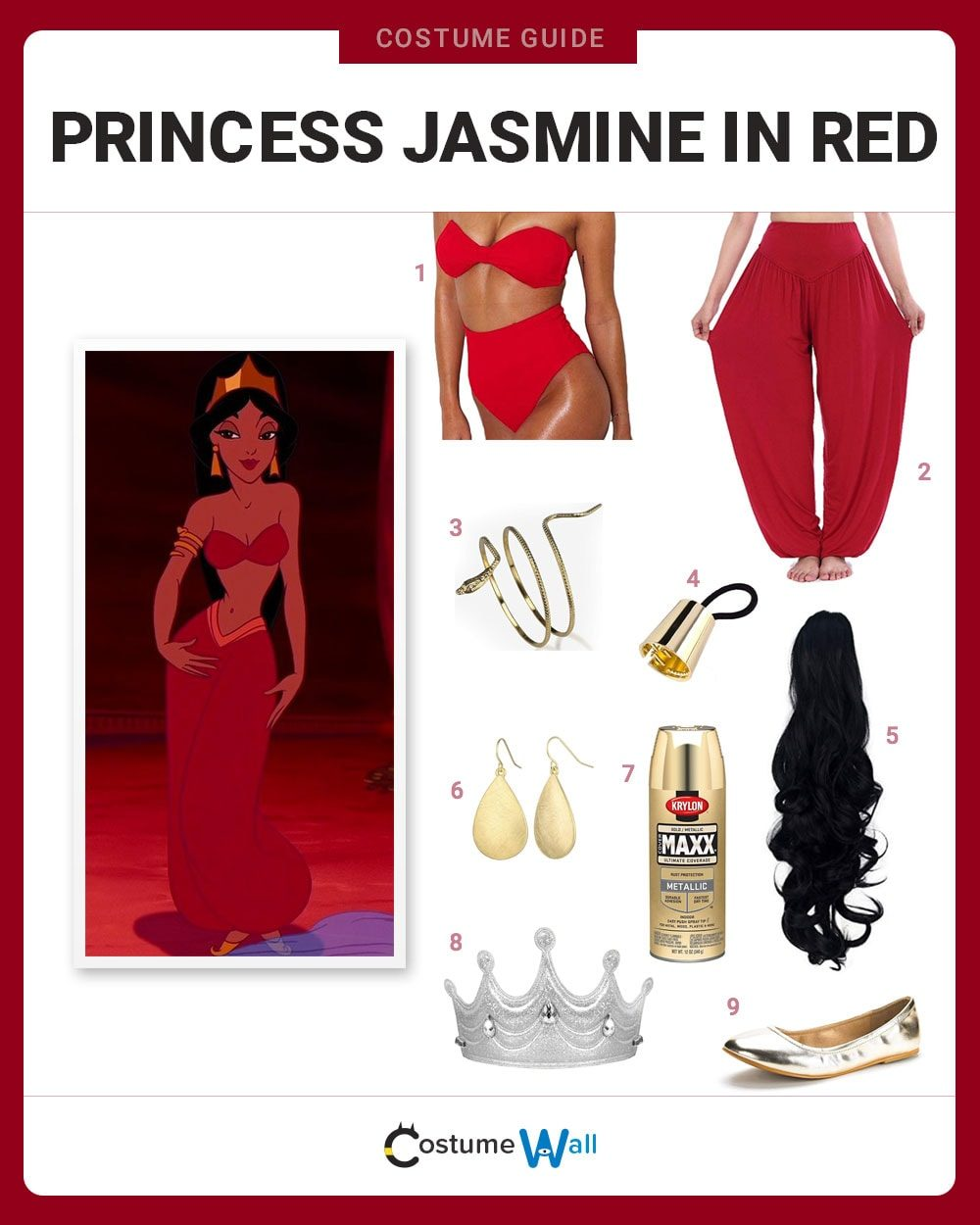 Red Princess Jasmine Costume Guide