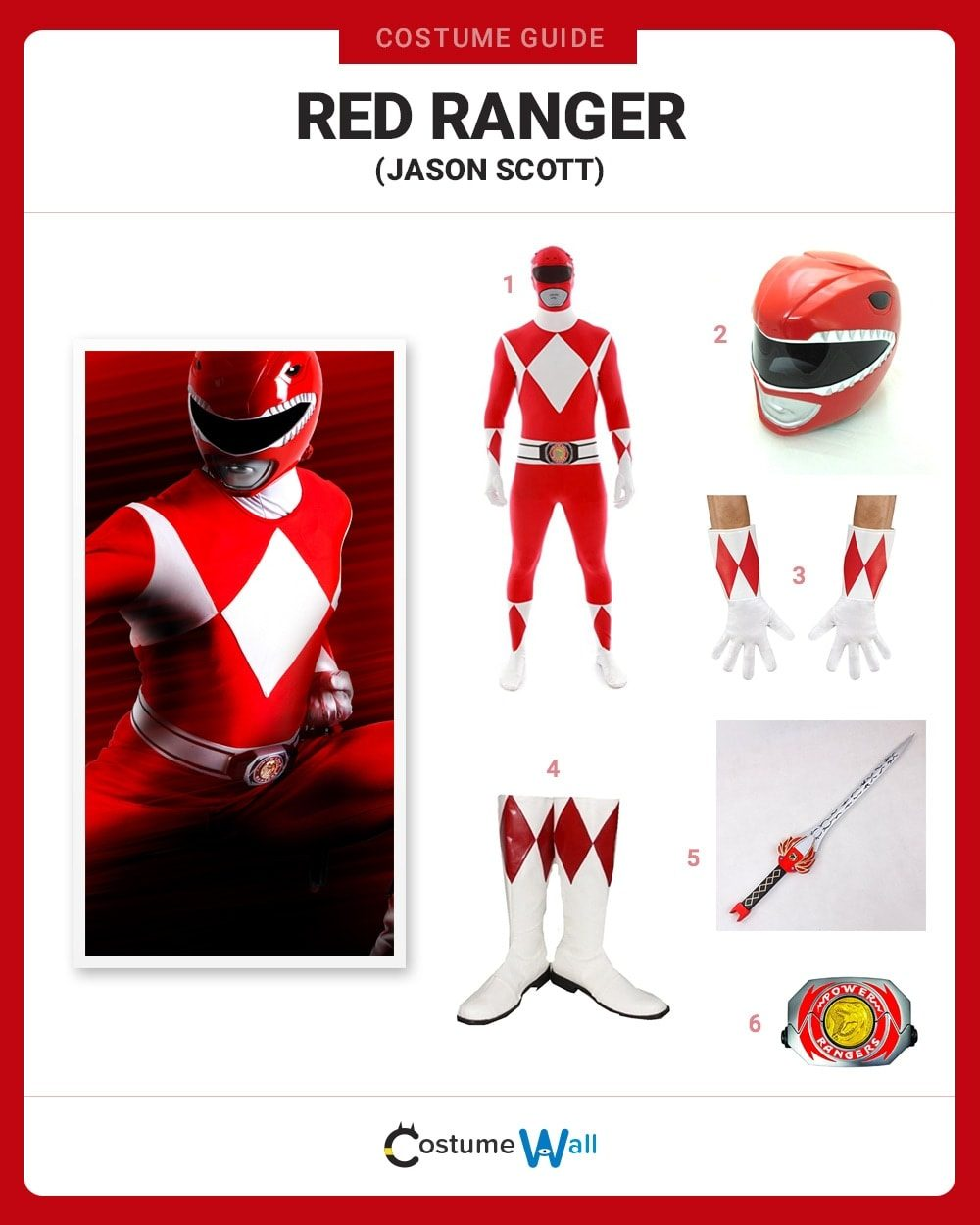 Dress Like The Red Ranger Costume Halloween And Cosplay Guides