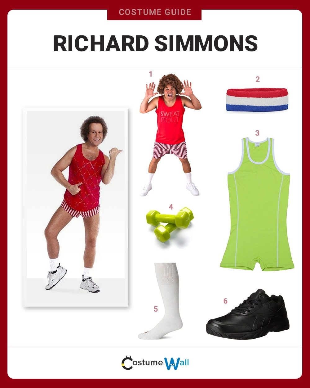 Richard Simmons Costume Guide