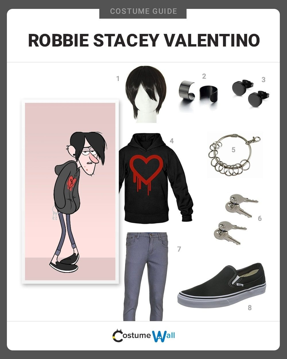 Robbie Stacey Valentino Costume Guide