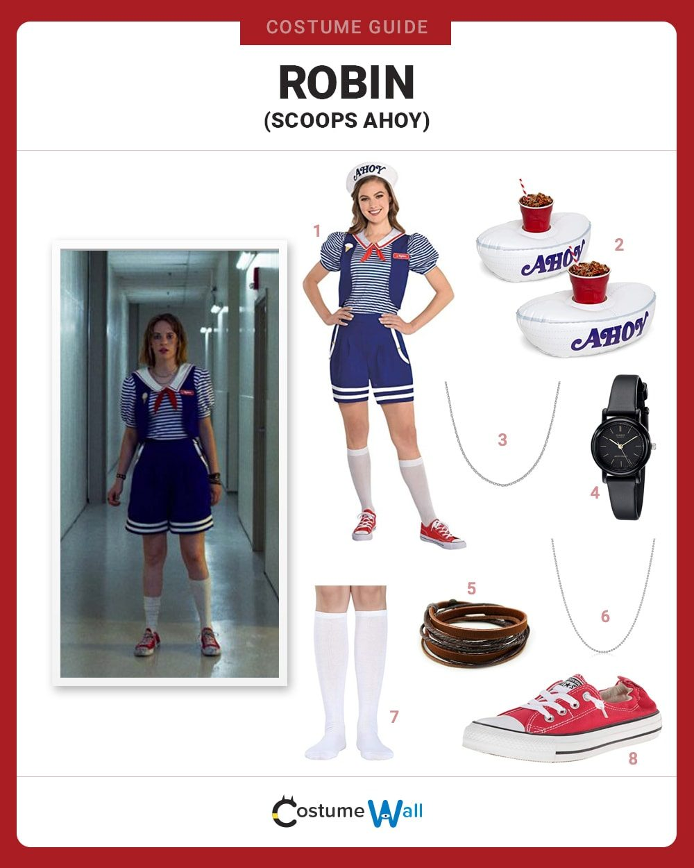 Robin Buckley (Scoops Ahoy) Costume Guide