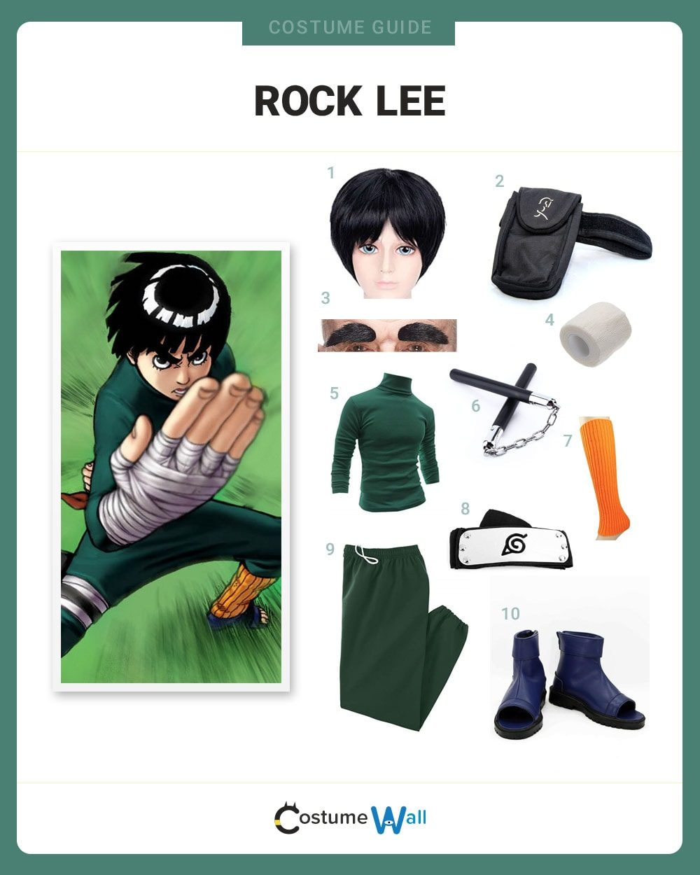 Rock Lee Costume Guide