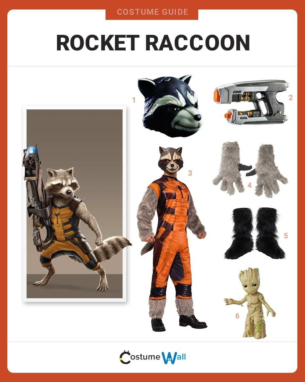 Dress Like Rocket Raccoon Costume | Halloween and Cosplay Guides