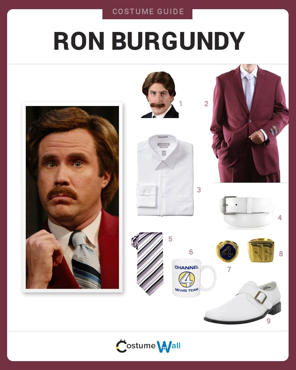 Ron Burgundy Costume Guide
