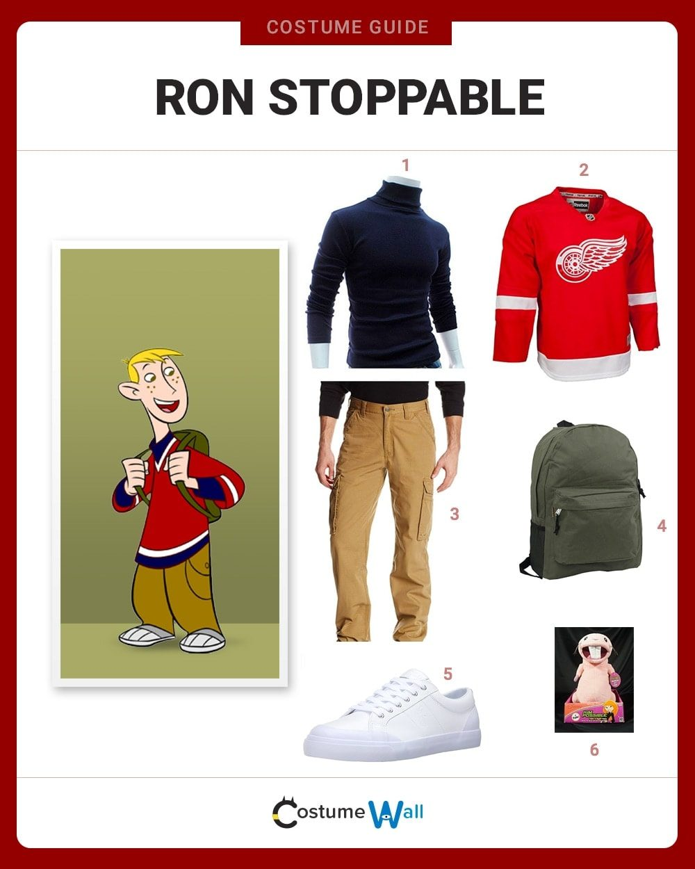 Ron Stoppable Costume Guide