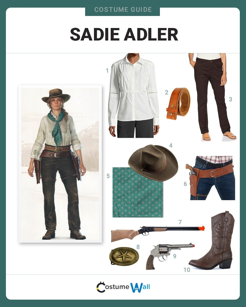 Sadie Adler Costume Guide