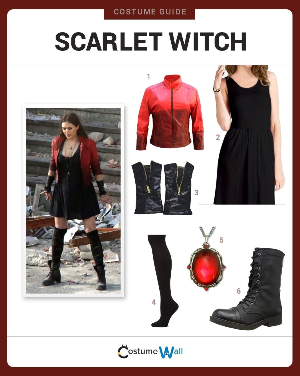 Dress Like Scarlet Witch Costume