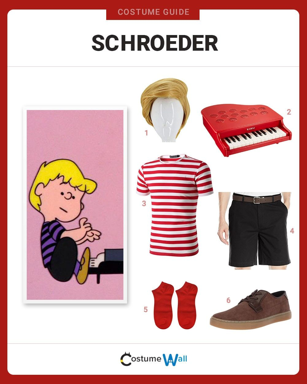 Dress Like Schroeder Costume Halloween And Cosplay Guides