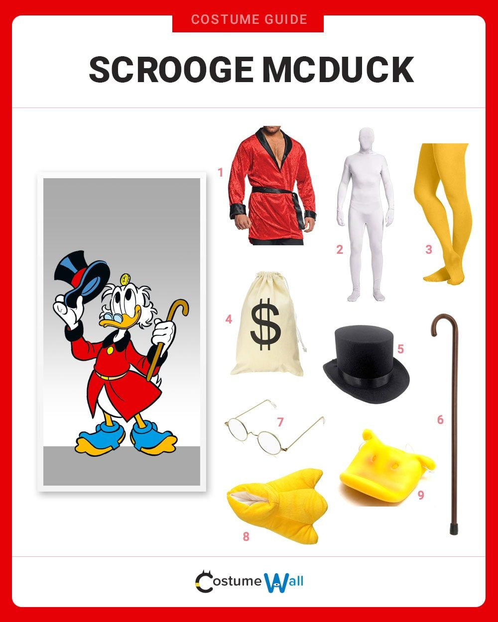 Scrooge McDuck Costume Guide