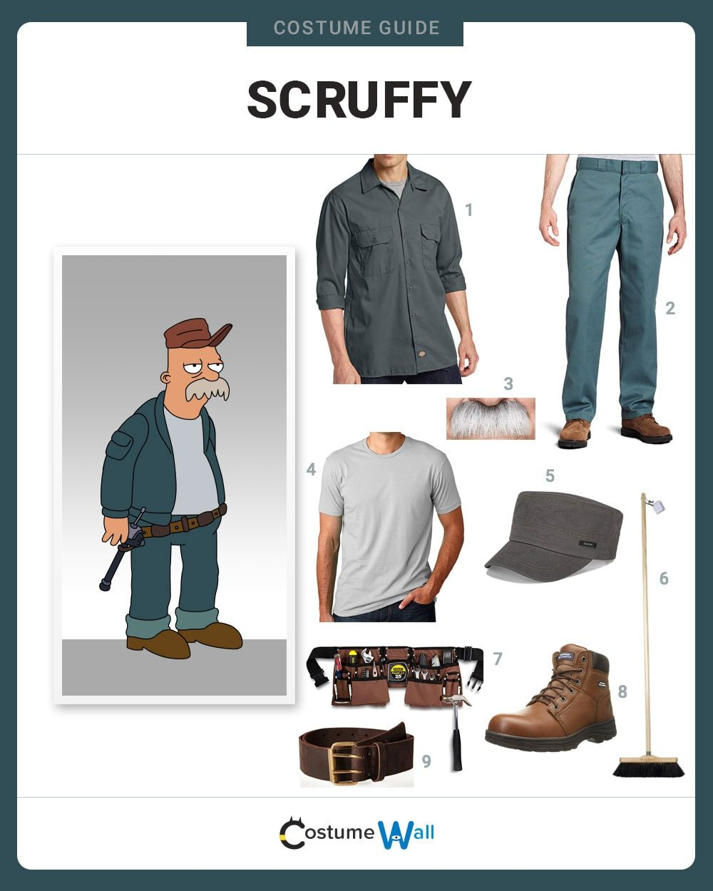 Scruffy  Costume Guide