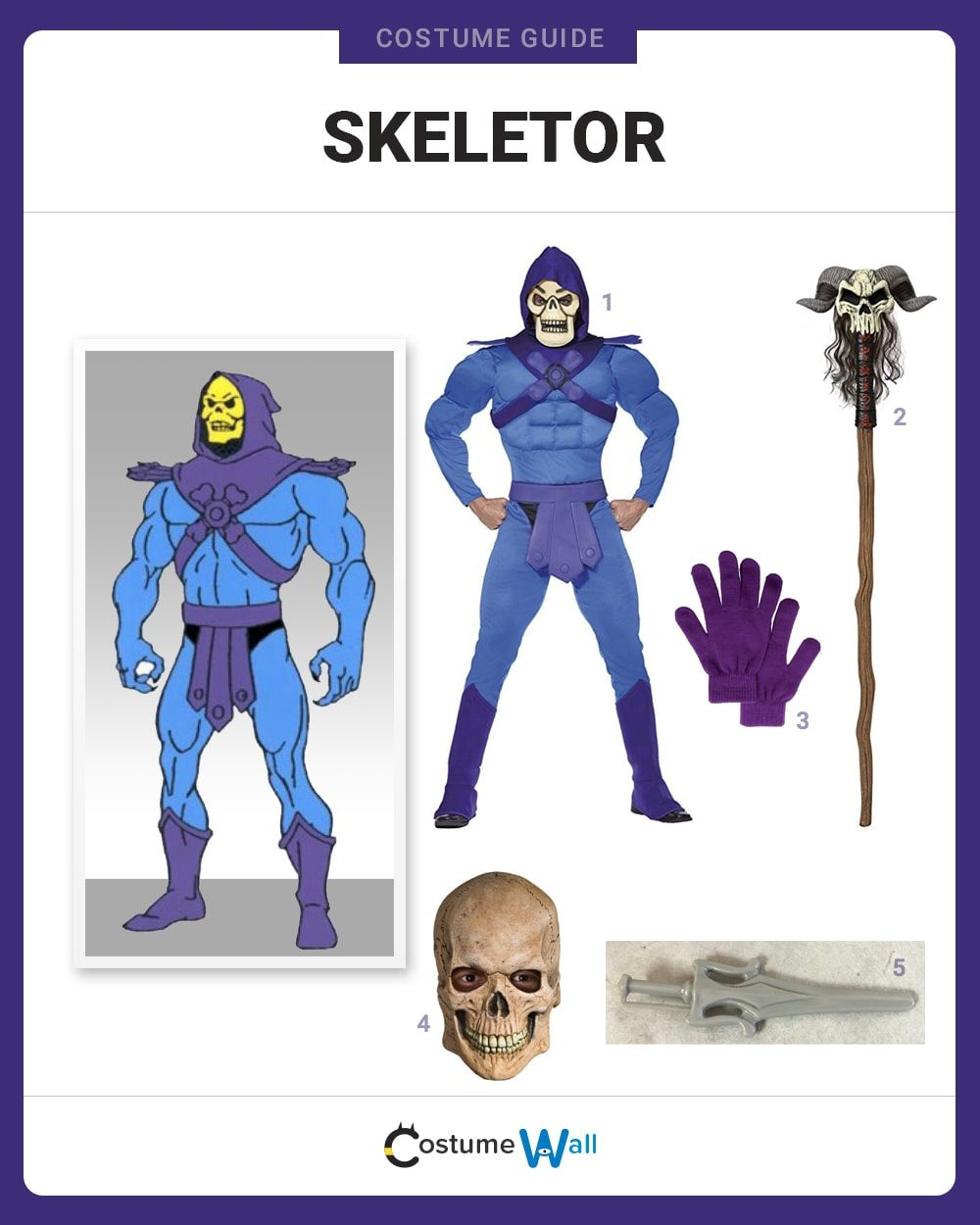 Skeletor Costume Guide