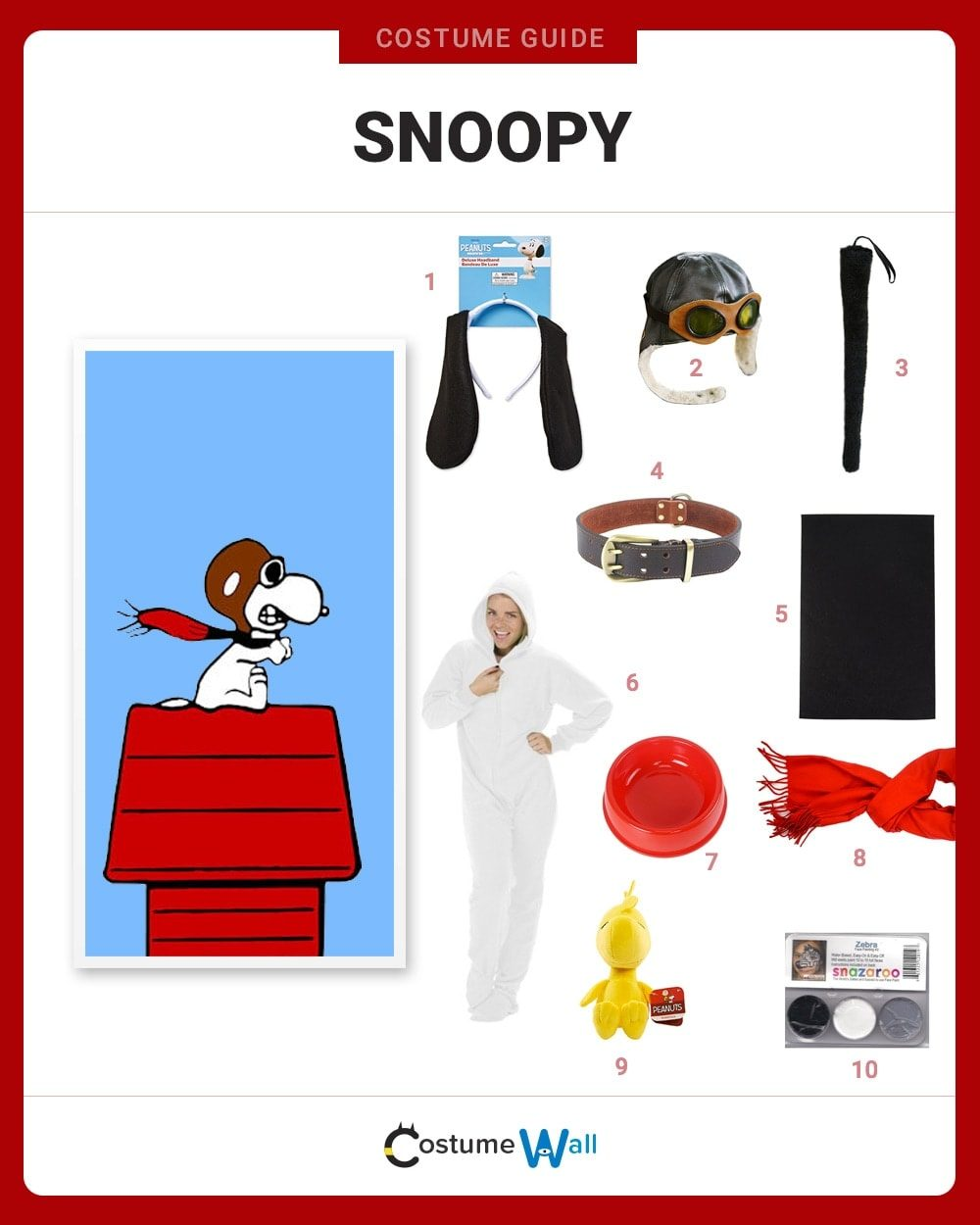 Dress Like Snoopy Costume Halloween And Cosplay Guides