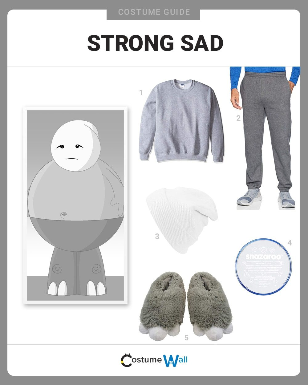 Strong Sad Costume Guide