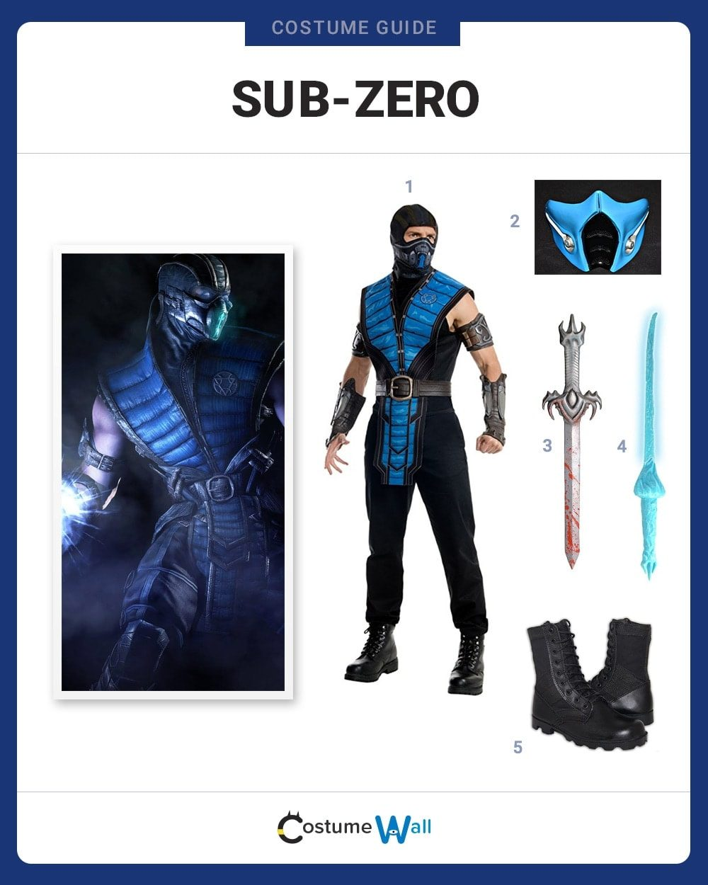 Dress Like Sub Zero Costume Halloween And Cosplay Guides