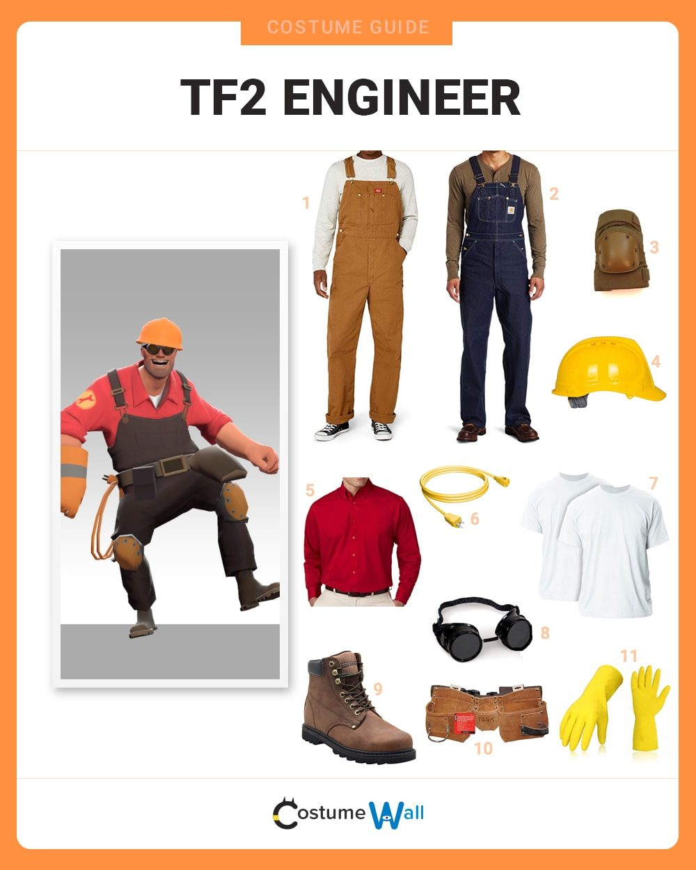 Dress Like Tf2 Engineer Costume Halloween And Cosplay Guides