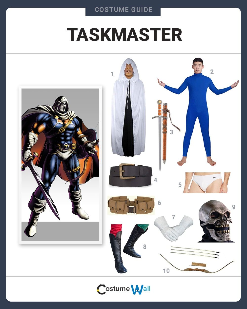 Taskmaster Costume Guide