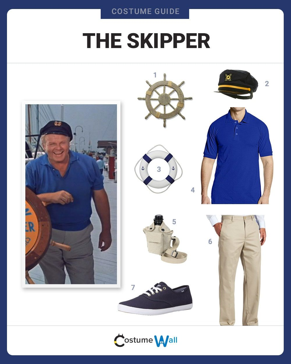 013d474970357 How to Dress Like the Skipper. Gilligan s Island ...