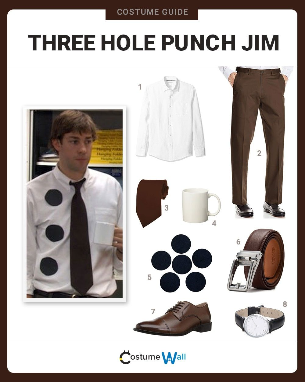 Three Hole Punch Jim  Costume Guide