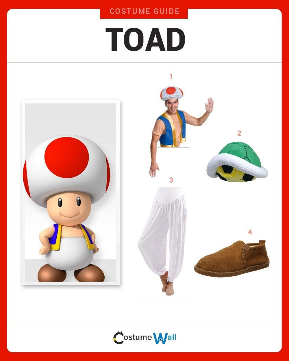 Toad Costume Guide