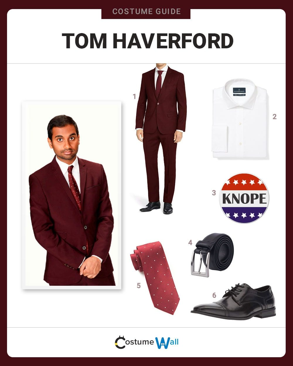 Tom Haverford  Costume Guide