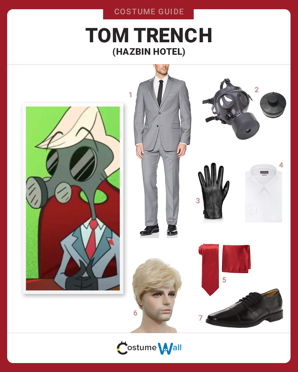 Tom Trench  Costume Guide